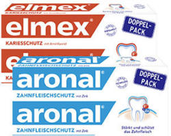elmex oder aronal Zahncreme jede 2 x 75-ml-Packung