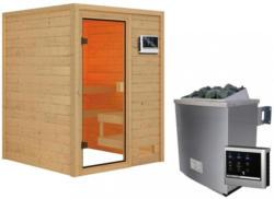 Sauna Tolouse mit externer Steuerung Naturfarben