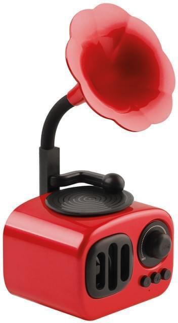 Nabo Retro Mini BS03 rot Retro Bluetooth-Speaker