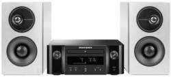 marantz M-CR612 schwarz + Demand D7 weiß Kompakt-Anlage mit WiFi, Bluetooth, DAB+ & HEOS + High-Performance Regal-Lautsprecher