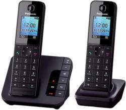 Panasonic KX-TGH222GB Schnurlostelefon mit Anrufbeantworter und 2. Mobilteil