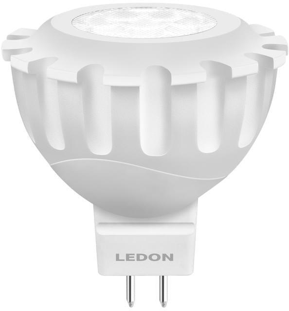 Ledon LED-NV-Lampe MR16 8W GU5.3 35° 540lm 2700K Niedervoltlampe, RA80, Ersatz f. 46W Lebensdauer 25 Jahre (bei ca.2,7h/Tag