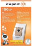 Expert ETECH Expert 1800 EXP Staubbeutel, Inhalt: 5 Beutel + 1 Filter
