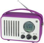 Expert Dachs SHE PR-202 violet tragbares Retro-Radio