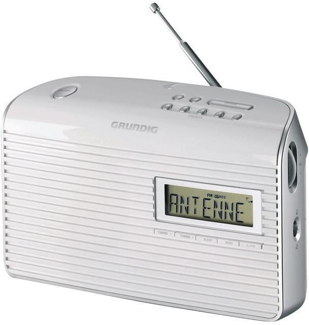 Grundig Music 61 white tragbares Radio mit Weckfunktion