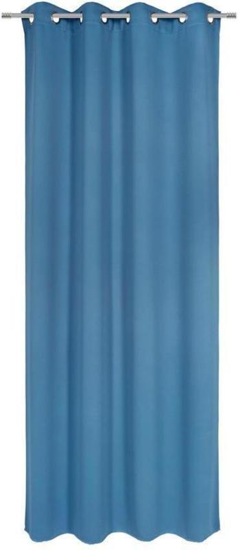 Vorhang mit Ösen Elma B: 140cm, Petrol