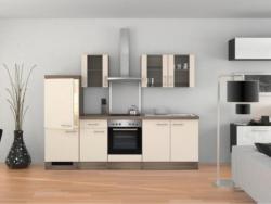 Einbauküche Küchenblock Möbelix Eico 270cm Magnolie