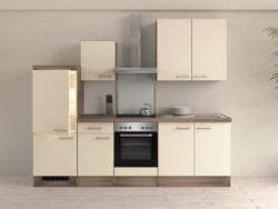 Einbauküche Küchenblock Möbelix Eico 270 cm Magnolie