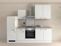 Einbauküche Küchenblock Möbelix Wito 270 cm Weiß