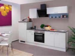 Einbauküche Küchenblock Möbelix Lucca 270cm Weiß