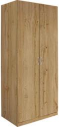 Drehtürenschrank 91cm Karo, Wotan Eiche Dekor