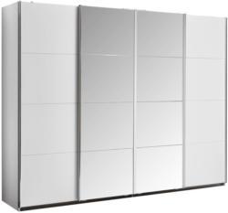 Schwebetürenschrank mit Spiegel 271cm Bensheim, Weiß Dekor