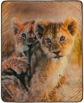 Möbelix Kuscheldecke Baby Löwen