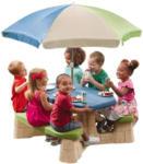 Möbelix Kinder-Gartentisch Np Step2 mit Sonnenschirm