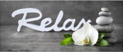 Dekopaneel Relax With Stones & Flowers