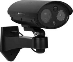 Überwachunskamera Attrappe mit LED- und  Blitzlicht
