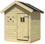 Möbelix Spielhaus Holz mit Dachpappe Natur Nele 1