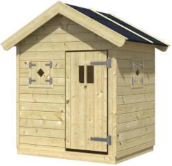Spielhaus Holz mit Dachpappe Natur Nele 1