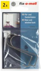 Tür- und Fensterhaken B/H/T: 1,1/6/2,3cm, 2 Stück