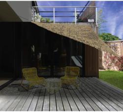 Gartensonnensegel Dreieck 3,6x3,6m