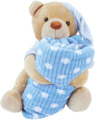 Kuscheldecke mit Teddy - Bella