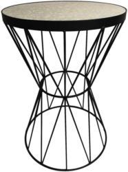 Beistelltisch Ston 1 Steinoptik + Metall