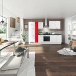 Möbelix Einbauküche Küchenblock Möbelix Turin 310 cm Alpinweiß/Signalrot