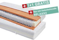 Taschenfederkernmatratze Relax 90x200cm H2