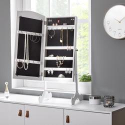 Schmuckschrank in Weiß mit Spiegel 'Lina'
