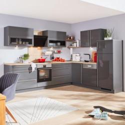 Eckküche Nolte Lux Grau