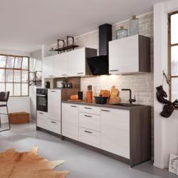Küchenblock Plan, in Eiche Weiß