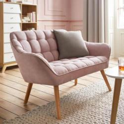 Sofa in Rosa 'Monique'