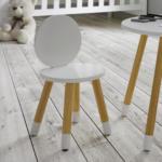mömax Kinderstuhl in Weiß/ Pinienfarben 'Leni'
