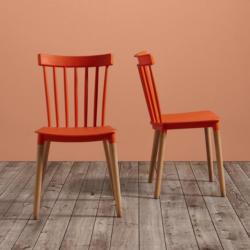 STUHL in Orange 'Celine'