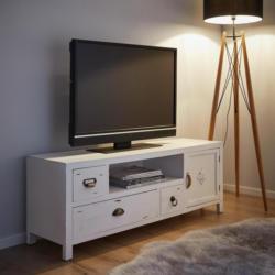 TV-Element in Weiß 'Lewis Vintage'