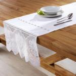 mömax Wien 22 Tischläufer in Weiß ca.50/150 cm ''Jasmin''