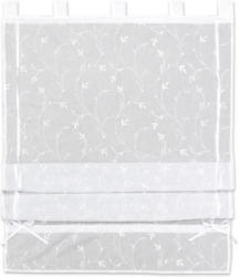 Bändchenrollo Romantic in Weiß ca. 60x140cm