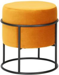 Hocker aus Samt in Orange