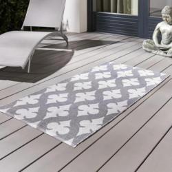 Outdoorteppich in Grau/Weiß ca.70x140cm 'Club'
