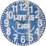 mömax Wr. Neustadt Uhr Good Life in Blau/ Weiss ca.Ø58cm
