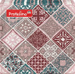 dm-drogerie markt Profissimo Serviette Mosaik/Muster, 33x33 cm