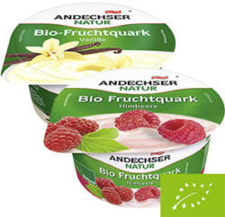 Andechser Bio Fruchtquark versch. Sorten, jeder 150-g-Becher