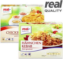 Chicken Nuggets mit 3 x 30 g Dip gefroren, jede 500-g-Packung und weitere Sorten