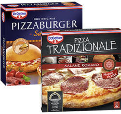 Dr. Oetker Pizza Tradizionale Salame Romano gefroren, jede 370-g-Packung und weitere Sorten