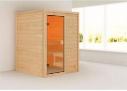 Karibu Sauna Sandra, 3,6 kW, naturbelassen, ohne Ofen
