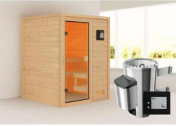 Karibu Sauna Sandra, 3,6 kW, naturbelassen, externe Steuerung