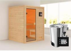 Karibu Sauna Sandra, 3,6 kW, naturbelassen, Bio externe Steuerung