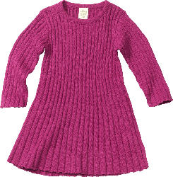 ALANA Kinder Kleid, Gr. 92, in Bio-Baumwolle, beere, pink