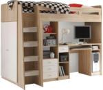 Möbelix Stauraumbett Unit 90x200 inkl. Schreibtisch und Leiter
