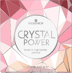 essence cosmetics Rouge- und Highlighterpalette crystal power rouge & highlighter palette